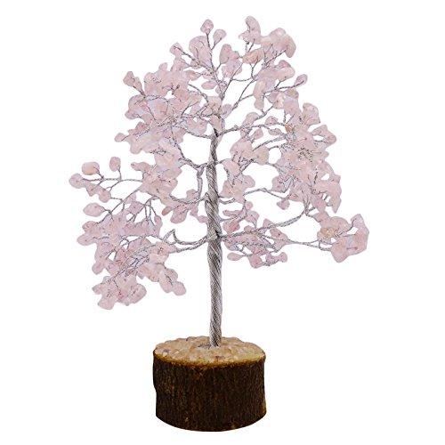 Harmonize Rose Quartz Tree Reiki Healing Stones Spiritual Feng Shui Vastu Table Decor