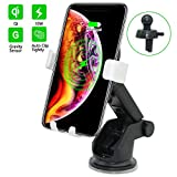 Wireless Car Charger Mount QI Fast Charging Auto Clamping Phone Holder Air Vent Compatible with Samsung Galaxy S10 S9 S8 S7 Edge Note 8 5 + iPhone X Xs Max 8 Plus