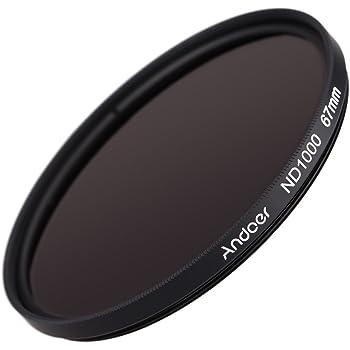 Andoer 67mm ND1000 10 parada Fader filtro de densidad neutra para ...