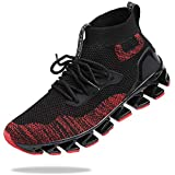 SKDOIUL Sneakers for Men Sport Running Shoes Athletic Tennis Walking Shoes Fashion Sneaker mesh Breathable Black red Size 6.5