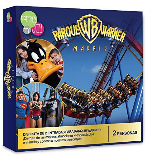 NJOY Experiences - Caja Regalo - Parque Warner - 2 entradas, niños con Altura Inferior a 1m Gratis