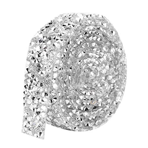 Cinta de diamantes de imitación de cristal de 5 yardas, bandas de...