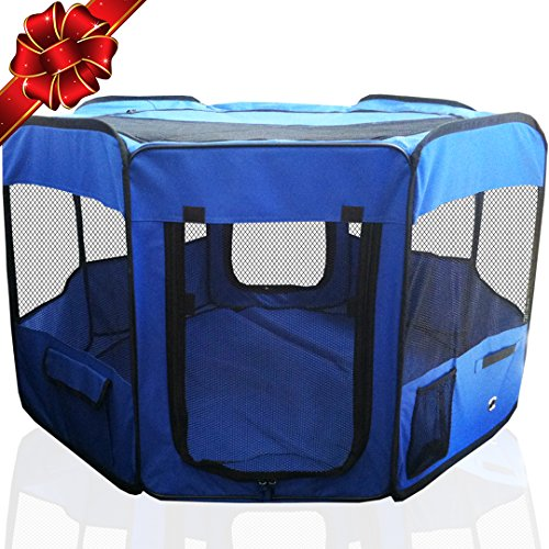 "#1 Premium Pet Playpen – Large 45"" Indoor/Outdoor Cage"
