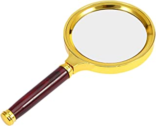 Jewelry necklace 80MM 10X Professional Handheld Jewelry Magnifier Magnifying Glass Portable Size Reading Newspaper Jewelry...