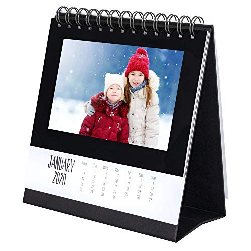 Shot2go 2020 Desktop Photo Calendar Black - Holds 12 4x6