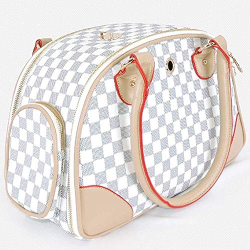 YYhkeby Pet carrier Cats and dogs Lightweight and soft Double-sided mesh bag Portable Collapsible Dog cat bag Dog backpack Pet travel bag suitcase traveling backpack Jialele (Color : White, Size : M)