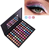HJSMZ Eyeshadow Palette Colourful Long Lasting Multi Reflective Shimmer Matte Pressed Pearls Eye Shadow Powder Makeup Pallet Glitter Eyeshadow 88 Colours,B