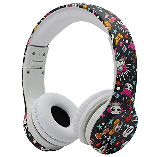 Kopfhörer Kinder, hisonic Kopfhörer für Kinder mit Laustärkebegrenzung Verstellbare Kinder Erwachsene Headset für iPod iPad iPhone Android Handy Tablet PC MP3 MP4 Player. (Mädchenfarbe)