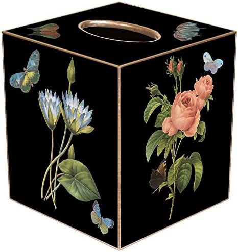 Marye-Kelley TB7-Black-Pink Roses Pink Blue Recommendation Max 56% OFF Hydrangea Irises T