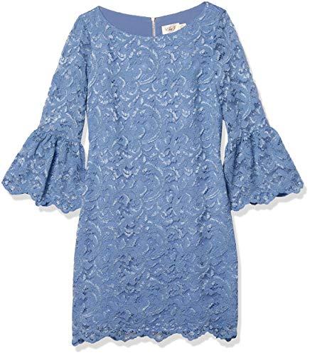 Eliza J Women's Bell Sleeve Shift Dress, Blue, 6