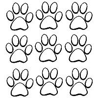 車のステッカーの装飾 17.7 * 19.3cm動物犬猫の足のプリント車のスタイリング装飾的なデカール面白い窓のステッカー黒/スリバー (Color Name : Black)