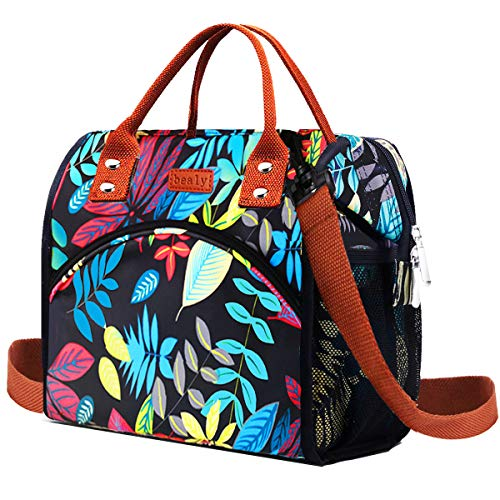 Lunch Boxes Outdoors Cooler Insulated Bags Not Leak Large Cooler Tote Bags with Wide Open Large Capacity&Removable Shoulder Strap Lunch Box for Women Girls  Children  Office Picnic  Boat  Beach