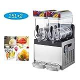 Cerobit Slushies de Hielo de la máquina, Comercial Slushy Cafetera, Bebidas congeladas dispensador de Jugo XRJ15L (2x15L, 700W, Temperatura Rango -2-4ºC)
