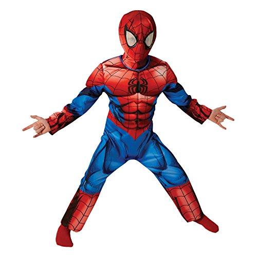 Marvel Spider-Man Deluxe Classic pasado - Traje de Niño - Grande - 128 cm - Edad 7-8