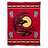 Missouri River Native American Style Fleece Blanket - Raven