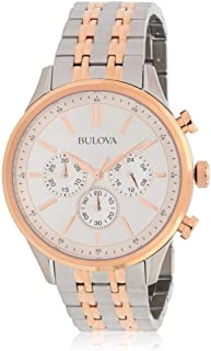 Bulova Men's Two Tone Steel Bracelet Steel Case Quartz Watch 98A216
