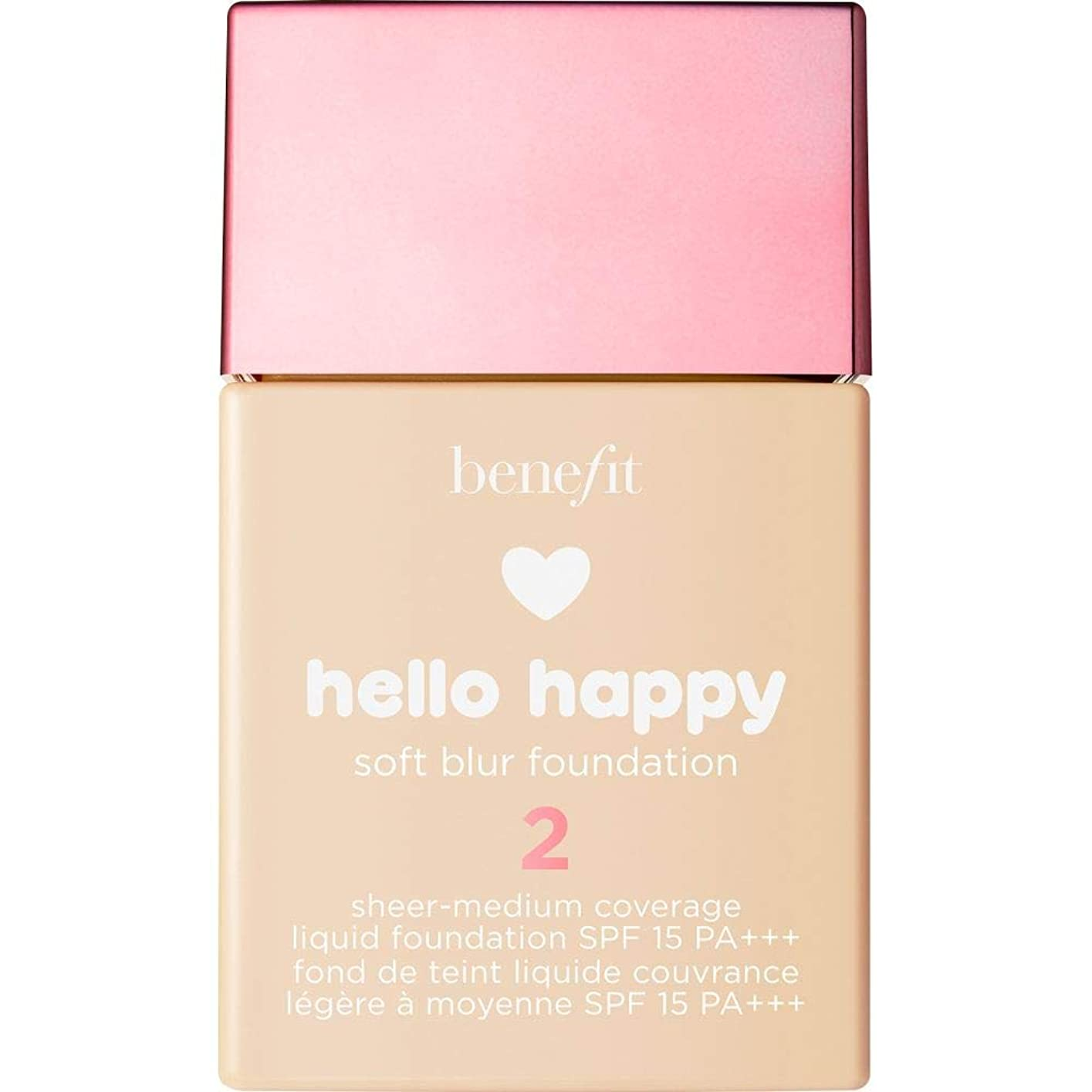 ウェイド甘やかすノベルティ[Benefit ] こんにちは幸せなソフトブラー基礎Spf15 30ミリリットル2に利益をもたらす - 暖かい光 - Benefit Hello Happy Soft Blur Foundation SPF15 30ml 2 - Light Warm [並行輸入品]
