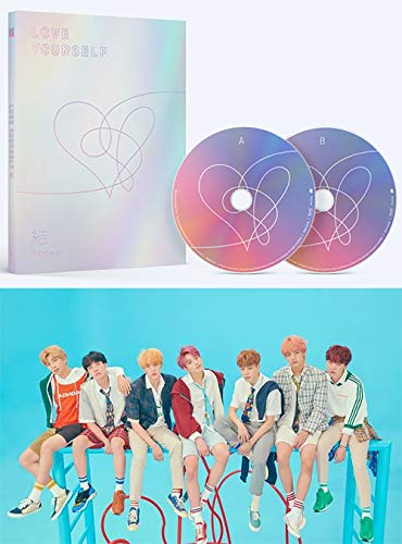 BTS Love Yourself Answer (F Version) Bangtan Boys Album 2CDs+Poster+Photobook+Mini Book+Photocard+Sticker Pack+Gift (Extra 6 Photocards Set)