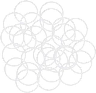 per Isolamento Gommino Bianco 30pz 1mm interno Dia 1.5mm Larghezza sourcing map Silicone O-Rings 4mm OD