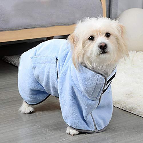 ZHDIN Toalla de perro para mascotas Toalla absorbente Toallitas de limpieza suave multifuncional toalla de secado rápido para perros medianos pequeños y gatos suministros de algodón