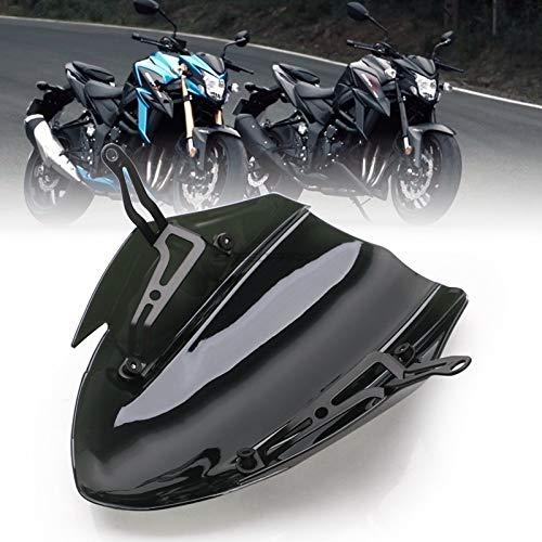 RKRCXH Motocicleta Negro Parabrisas Pantalla Blindaje con Soporte Fit For Suzuki GSXS750 GSXS750 GSXS GSXS 750 2017 2018 2019 Motocicleta Deflector De Viento Deflector de Viento para Motocicleta