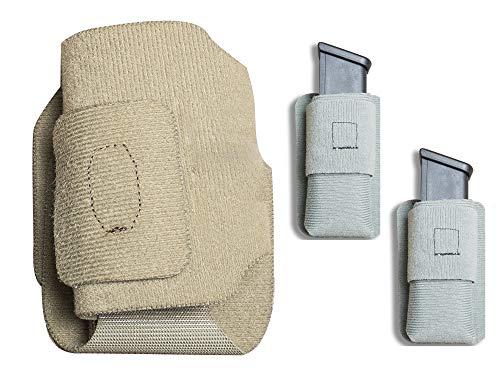 Vertx 3 Item Bundle MPH Full Size Holster Tan and 2 MAK Standard Pocket Mini Mag Gray