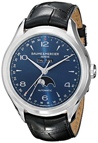 Baume & Mercier Men's BMMOA10057 Clifton Analog Display Swiss Automatic Black Watch