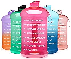 professional Venture Pal Large 1 Gallon / 128 oz  74 oz Motivated BPA-Free Airtight Water Bottle Over Time…