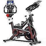 Bicicleta Estaticas,Bicicleta Spinning,Bicicleta Estatica Con Monitor De Frecuencia Cardíaca / Transmisión Por Correa / Volante / Asiento Ajustable Para Uso En El Hogar y El Gimnasio