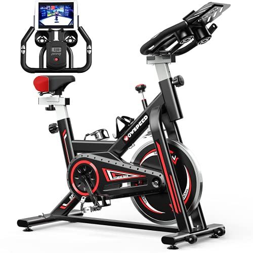 Bicicleta Estaticas,Bicicleta Spin,Bicicleta Estatica Con Monitor De Frecuencia Cardíaca / Transmisión Por Correa / Volante / Asiento Ajustable Para Uso En El Hogar y El Gimnasio (Negro)