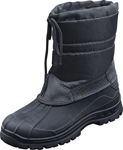 Canadian Snow Boots II Winterstiefel Schneestiefel Schwarz Thermo Winter Stiefel (Gr.45)