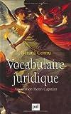 VOCABULAIRE JURIDIQUE. 8ème édition by Gérard Cornu (2000-01-06) - Presses Universitaires de France (PUF) - 06/01/2000