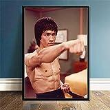 nishangyuyi Poster Wandmalerei Bruce Lee Kung Fu König
