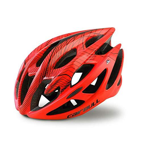 Earthily Kardu Fietshelm - MTB Mountainbike Helm, verstelbare racefietshelm voor volwassenen en heren, 52-58 cm polite Large B