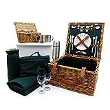 Fine Gifts UK - Cesta de picnic para 2 personas con accesorios (colección Ashby), ideas para cumpleaños, aniversario de boda, negocios y corporativos