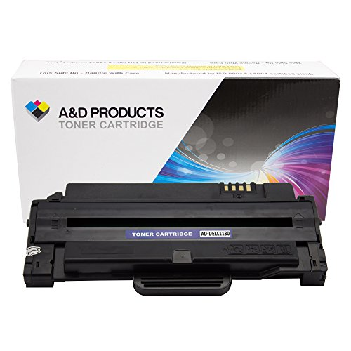 A&D Products Compatible Replacement for Dell 1130 Toner Cartridge Dell 7H53W Black (2,500 Page Yield)
