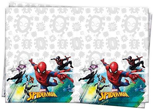Procos 89449 - Tischdecke Spiderman Team Up, Größe 120 x 180 cm, Partydekoration, Kindergeburtstag