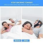 Dispositifs Anti Ronflements, Solution Anti Ronflements Réglable Mentonnière Snore Stopper pour Aide Sommeil Réduction Ronflement Mentonnière for Hommes Femmes #3