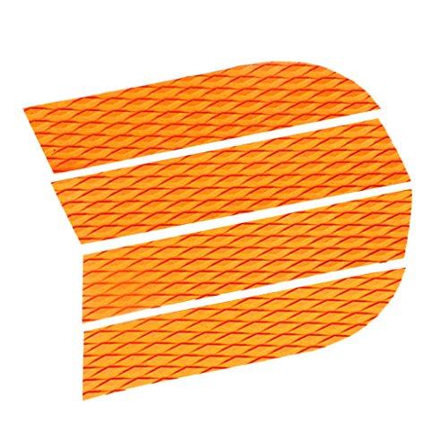 4 Stück Set Eva SUP Paddle Board Deck Traction Pad Anti-Rutsch Surfboard Footpad Longboard Shortboard Dekoration - Orange