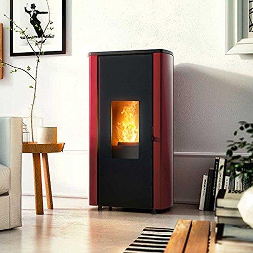 Pelletofen red Erica Air (8,6 kW) Stahl Bordeaux