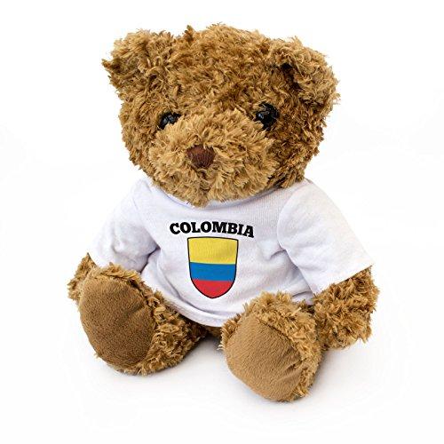 London Teddy Bears Ours en Peluche avec Drapeau de la Colombie – Mignon et câlin – Cadeau pour Les Fans de Colombie