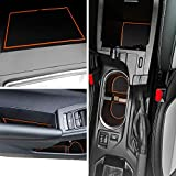 LAIKOU for Subaru Crosstrek 2018-2020 and Subaru Impreza 2017-2020 Custom Liner Accessories – Premium Cup Holder, Console, and Door Pocket Inserts 19-pc Set (Orange Trim)