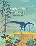 Sketchbook Dinosaur Compsognathus: Sketchbook Dinosaurs for Kids, Creative Notebook, 8 to 12 Years old, 120 pages Blank Lined Sketchbook. (Large 8.5x11 inch) Journal for Kids.