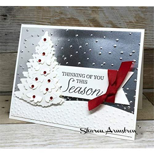 Christmas Tree Metal Cutting Die Stencil Template Christmas Birthday Wedding DIY Crafts Scrapbook Album Paper Card Handmake Embossing