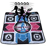 Dance Pad Mat Anti-Slip Wear Resistant, DDR USB Dance Pad Controller with USB Cable, Fitness Body Building Dancing Mat Compatible with PC Windows 98/2000/ XP/ 7