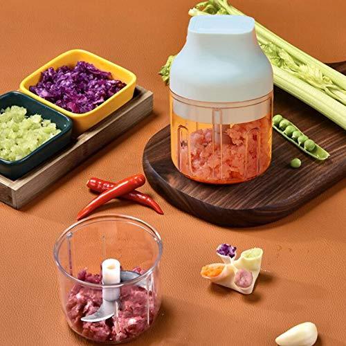 BSGDASHJ Mini picadora de ajo eléctrica Utilizada en restaurantes y hogares, Puede ayudarlo a manipular Todo Tipo de Especias y Verduras de Manera Conveniente y rápida.