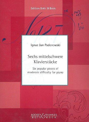 Ausgewählte Kompositionen: Sechs bekannte Stücke mittlerer Schwierigkeit. Klavier.