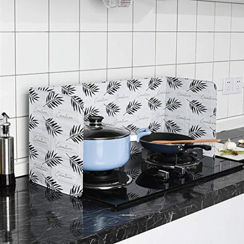 Plancha De Aluminio Estampado Aceite Bafle Película Hogar Cocina Cocinar Con Aceite Plato Plegable Aceite Prevención de salpicaduras Limpiar fácilmente (Blanco) ToGames-ES