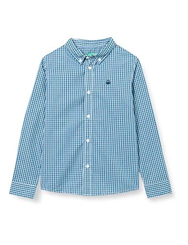 United Colors of Benetton Camicia 5du65qg40 Camisa, Cuadro Multicolor 91t, X-Large niños y niñas