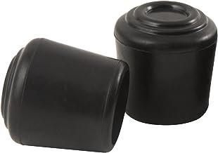 SoftTouch 4440895N Substituição para perna de cadeira de metal dobrável de borracha, 3,8 cm, 2 peças, preta